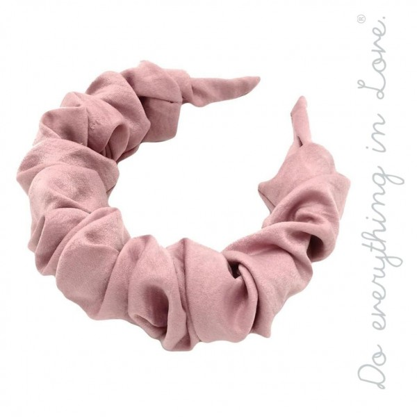 Do everything in Love brand ruched solid silky headband.  - One size - 100% Polyester