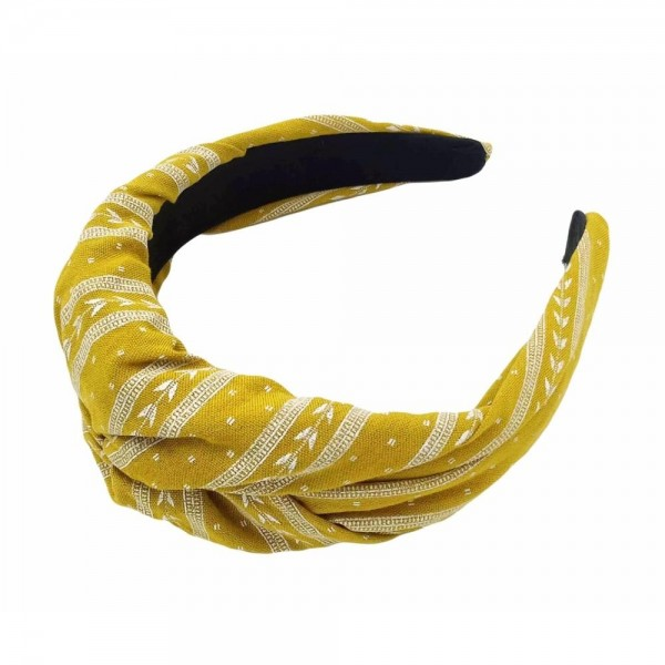 Do everything in Love brand twisted turkish print headband.  - One size - 100% Polyester
