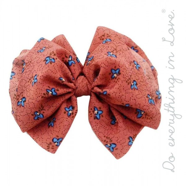 """Do everything in Love brand floral print hair bow barrette.  - One size - Approximately 6"""" W x 5"""" L - 100% Polyester"""