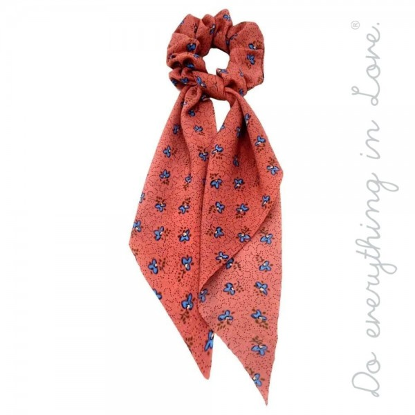 """Do everything in Love brand floral print hair scarf scrunchie.  - One size - Approximately 12"""" L - 100% Polyester"""