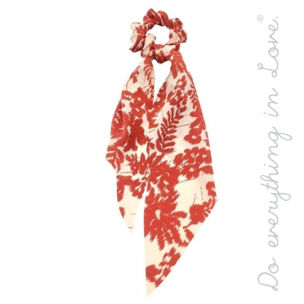 "Do everything in Love brand leaf print hair scarf scrunchie.  - One size - Approximately 11"" L - 100% Polyester"