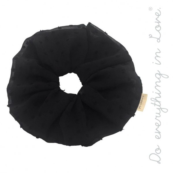 Do everything in Love brand sheer swiss dot oversized hair scrunchie.  - One size - 100% Polyester