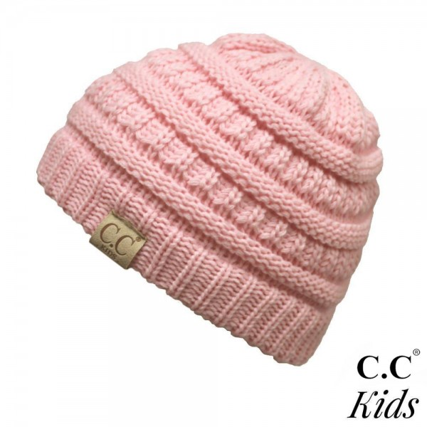 "YJ-847-KIDS: The original C.C beanie style for kids. 100% acrylic. Measures 7"" in diameter and 7"" in length. Approximate fit: toddler to 7 years of age."