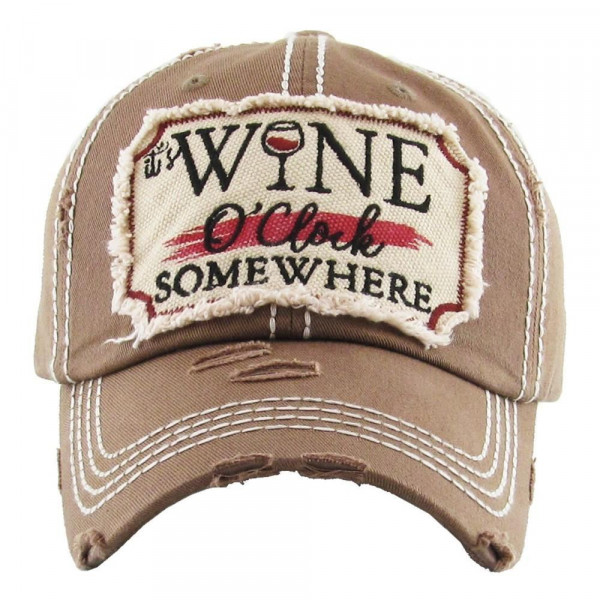 Embroidered, vintage style ball cap with washed-look details.  - 100% cotton - Adjustable back strap - One size fits most