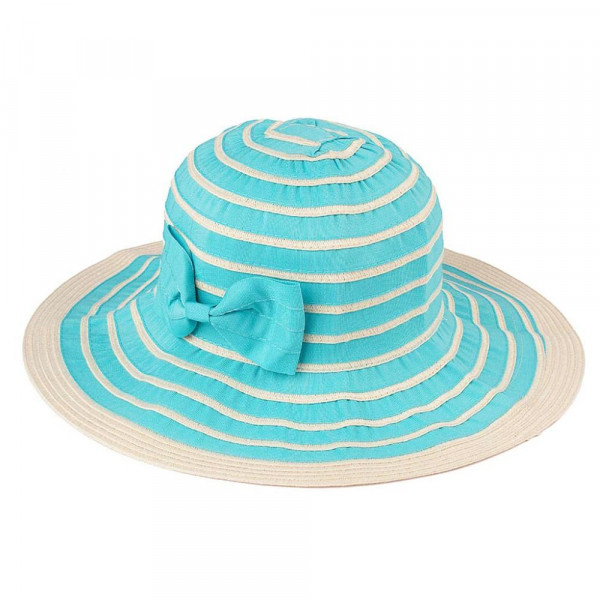 DA-3-CC foldable bucket hat with striped pattern. 100% polyester. One size.