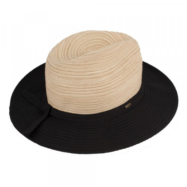 St-106 CC- paper panama hat with ribbon band. 100% paper- One size.