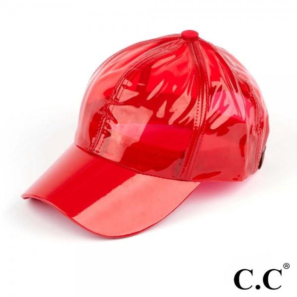 C.C Ba-760 Pvc rain baseball cap. 100% pvc. One size fits most.