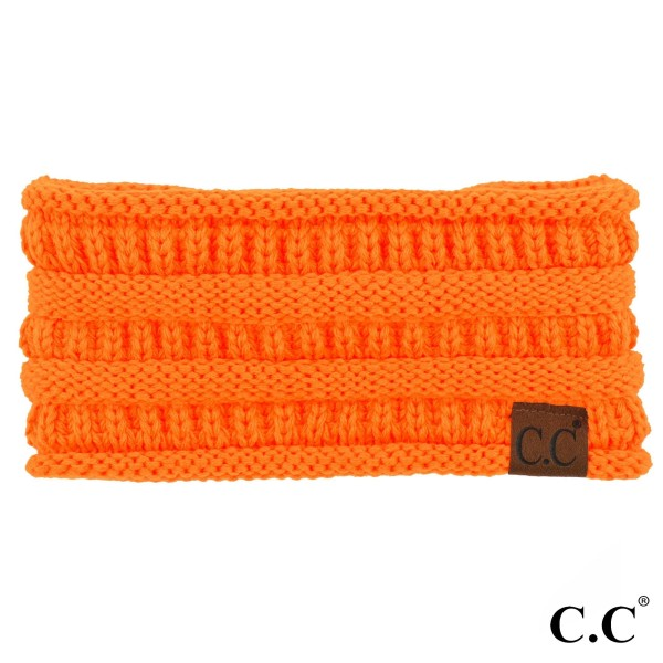 C.C HW-21 Solid ribbed headwrap  - 100% Acrylic - One size fits most