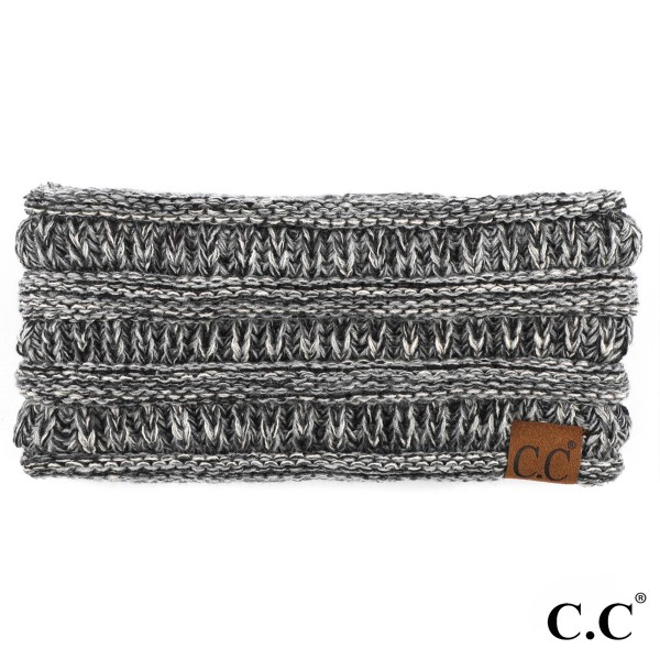 C.C HB-826 Four tone ribbed knit ponytail headband  - 100% Acrylic - One size fits most
