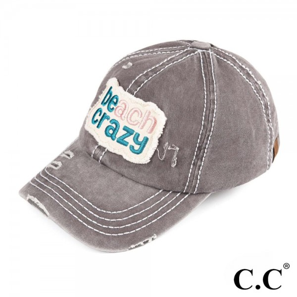 Wholesale c C BT Beach crazy vintage washed distressed cotton pony cap cotton On