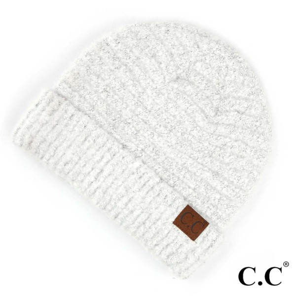C.C HAT-7006  Solid boucle yarn beanie  - 100% Polyester Boucle - One size fits most