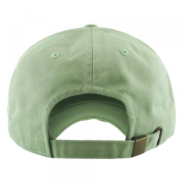 Solid color vintage distressed baseball cap.  - Monagramable - One size fits most - Adjustable back strap - 100% Cotton