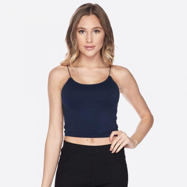 When it comes to styling outfits, a camisole like this is a basic necessity! Soft, stretchy, cami tank features comfortable thin straps that stay in place and a cropped hem.   • Soft, comfortable thin straps  • Cropped  • Soft and stretchy  • Seamless design  • Perfect for layering under semi-sheer styles or weairng by itself  • Very Stretchy  • One Size Fits Most, Mid Rise  • Fits like a Glove  • Hand Wash Cold, Hang Dry  • Imported   Content: 92% Nylon, 8% Spandex