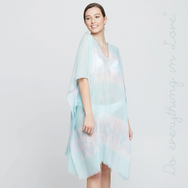Tie dye poncho. 100% polyester. One size fits most 0-14.