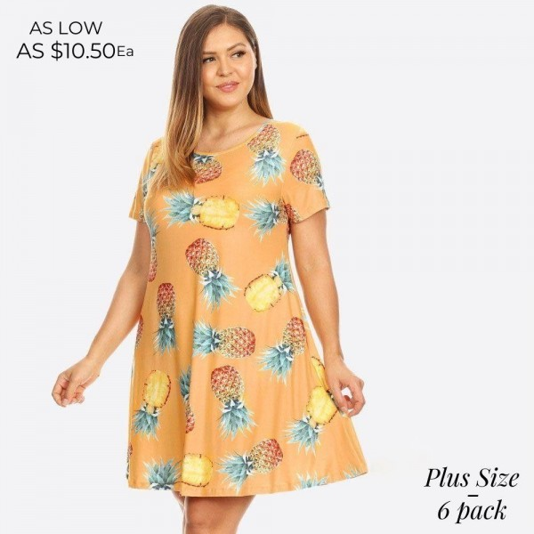 You'll feel as sweet as a pineapple and cute as can be in this fit & flare dress, perfect for a beach vacay! 