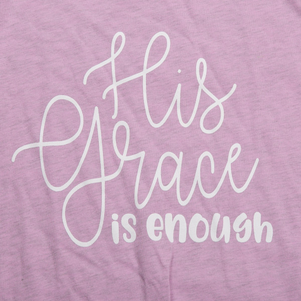 His grace is enough - Short Sleeve Boutique Graphic Tee. These t-shirts are sold in a 6 pack. S:1 M:2 L:2 XL:1 52% Cotton and 48% Polyester Brand: Bella Canvas
