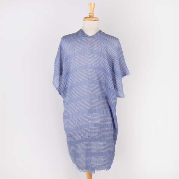 Light weight striped kimono. 100% polyester. Size 0-14.