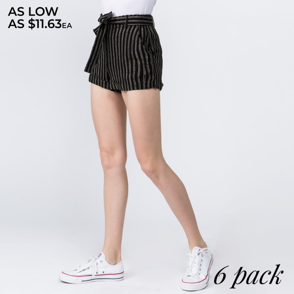 Enjoy a  relaxed and breezy pair of  striped capris. They're the perfect choice for a nice spring or summer day. Comes with waist tie and pockets. 