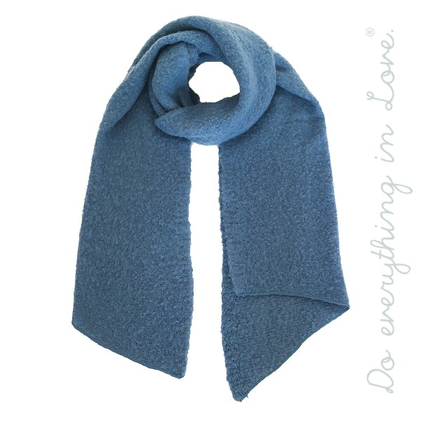 """Do everything in Love brand soft touch solid color bias cut knit scarf.  - Approximately 16"""" W x 79"""" L - 100% Acrylic"""