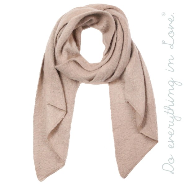 "Do everything in Love brand soft touch solid color bias cut knit scarf.  - Approximately 16"" W x 79"" L - 100% Acrylic"