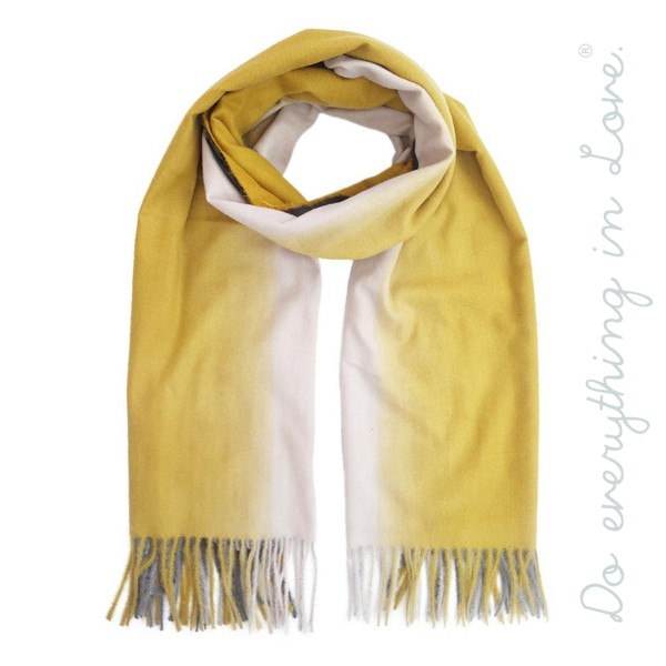 "Do everything in Love brand ombre scarf with fringes.  - Approximately 28"" W x 82"" L  - 70% Polyester, 30% Viscose"