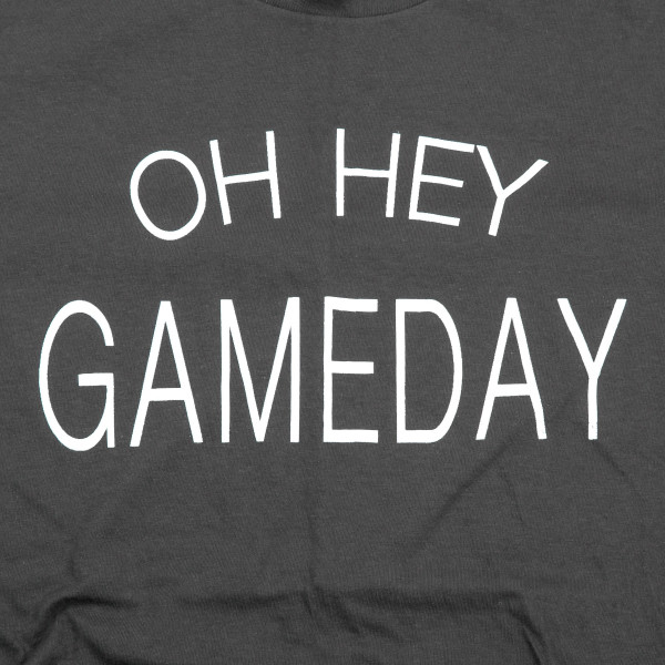 "Grey Anvil short sleeve boutique graphic tee featuring ""OH HEY GAMEDAY"".  - Pack Breakdown: 6pcs / pack - 1-S / 2-M / 2-L / 1-XL - 100% Cotton"