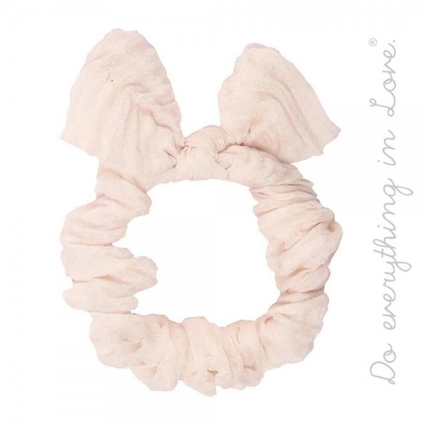 Do everything in Love brand wrinkled knotted bow hair scrunchie.   - One size  - 100% Polyester
