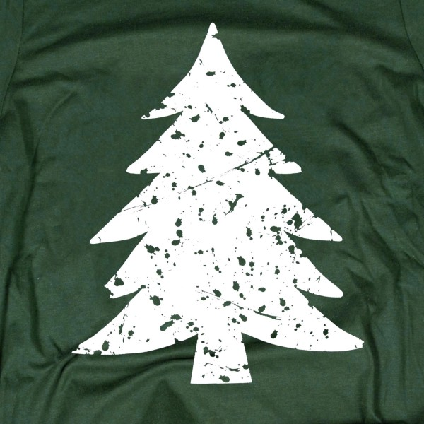 Forest Green Bella Canvas short sleeve Vintage Christmas Tree printed boutique graphic tee.  - Pack Breakdown: 6pcs / pack - Sizes: 1-S / 2-M / 2-L / 1-XL - 100% Cotton