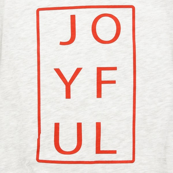 "Heather Grey Bella Canvas short sleeve ""Joyful"" Christmas printed boutique graphic tee.  - Pack Breakdown: 6pcs / pack - 1-S / 2-M / 2-L / 1-XL - 99% Cotton, 1% Polyester"