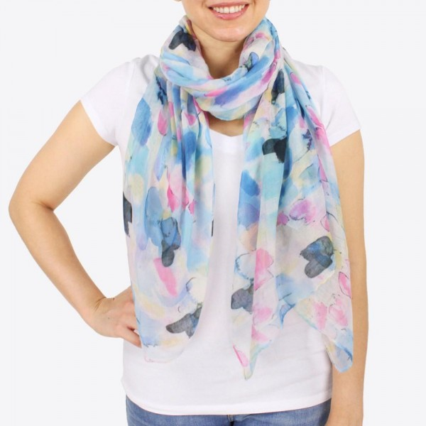 """Women's lightweight brushed geometric scarf.  - Approximately 28"""" W x 70"""" L - 100% Polyester"""