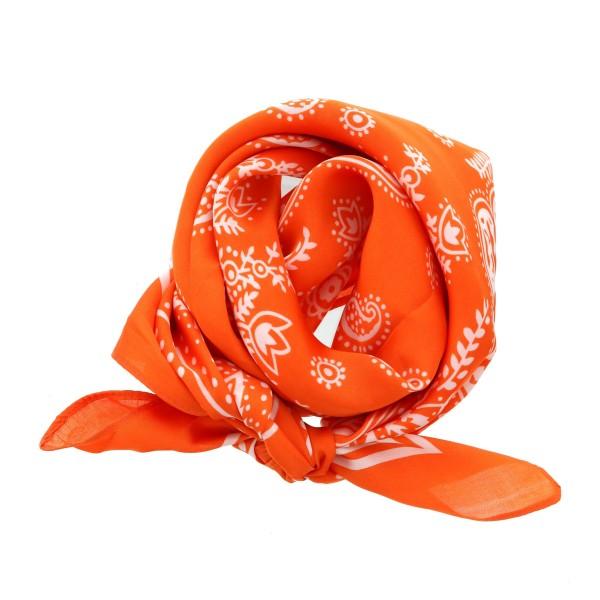"Women's lightweight silky paisley bandana scarf.  - Approximately 28"" x 28""  - 100% Polyester"