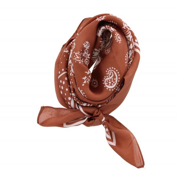 Wholesale women s lightweight silky paisley bandana scarf Polyester