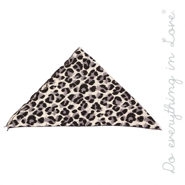 """Do everything in Love brand Ivory and Grey leopard print headwrap.  - One size  - Approximately 24"""" L  - 100% Polyester"""