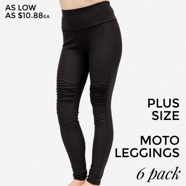 3786d524a5e Wholesale plus black moto leggings no front back pockets cotton polyester  spande