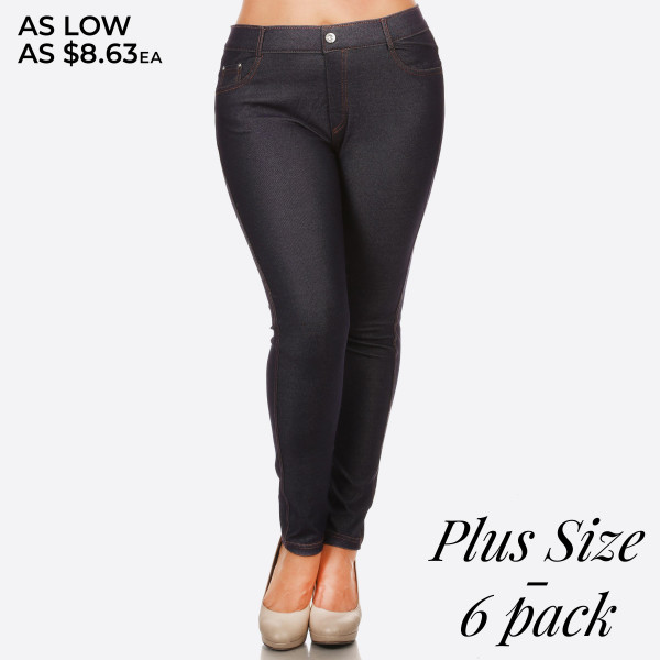 bba30a49e4c Wholesale women s Classic Solid Skinny Jeggings jeggings styled resemble  pair je