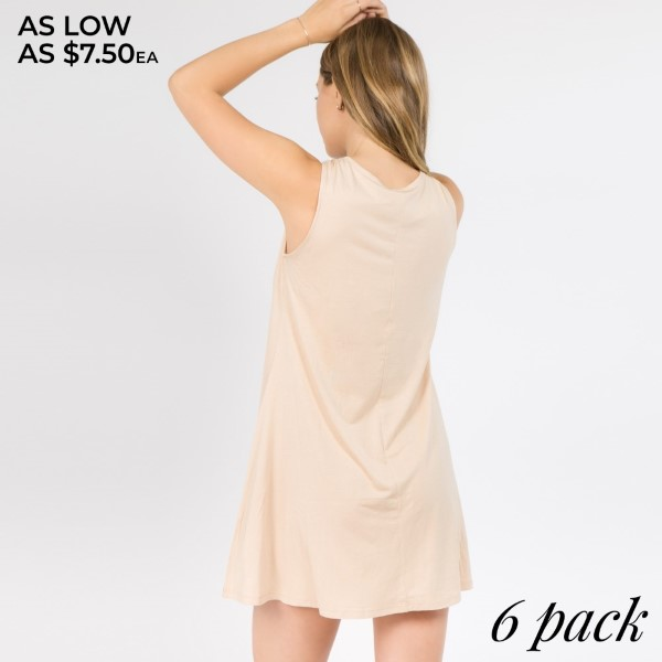 Stretchy rayon form the swing silhouette of this charming dress! Criss cross straps decorate a front keyhole accent, while a relaxed hemline shape the bottom. Complete the look by pairing with heels and a crop jacket for a cool night out. - Sleeveless, crew neckline   • Front criss-cross keyhole  • Swing silhouette  • Soft, stretchy knit fabrication  • Pullover closure  • Imported   Composition: 95% Rayon, 5% Spandex