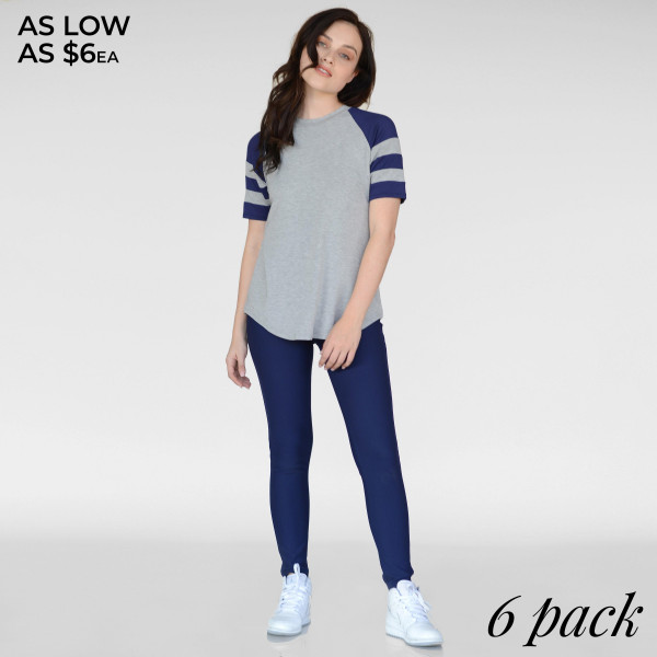 Slip on this casual shirt for an upscale, modern look. The contrasting black and white stripes accentuate the arms and look great with pants or shorts.   - Loose-fitted  - Short Sleeve Tank Top  - Crew Neckline  - Rounded-Hem  - Short Sleeve  - Stretchy  - Imported   Composition: 95% Rayon, 5% Spandex   Pack Breakdown: 6pcs/pack. 2S: 2M: 2L