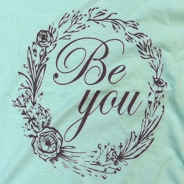 BE YOU - Short Sleeve Boutique Graphic Tee. These t-shirts are sold in a 6 pack. S:1 M:2 L:2 XL:1 35% Cotton 65% Polyester Brand: Anvil