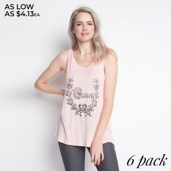 "Add some flair to your style in this Women's Flare Tank with ""FANCY"" design, you'll love its delicate gathered racerback detail, its flare bottom, how effortlessly it falls onto your body, as well as its ultra soft to the touch feel. Both comfortable and stylish, this versatile tank is perfect for your day-to-day, whether you're working out, on vacation, running errands, or relaxing at home. 