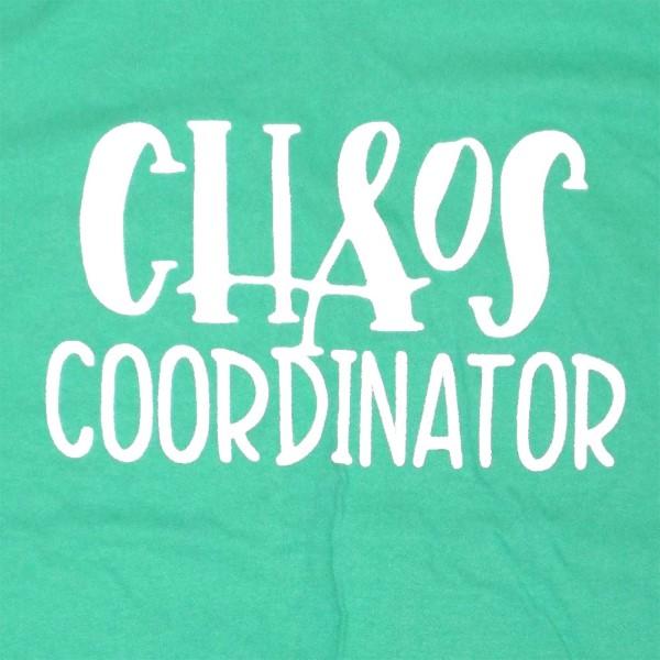 CHAOS COORDINATOR - Short Sleeve Boutique Graphic Tee. These t-shirts are sold in a 6 pack. S:1 M:2 L:2 XL:1 100% Cotton Brand: American Apparel
