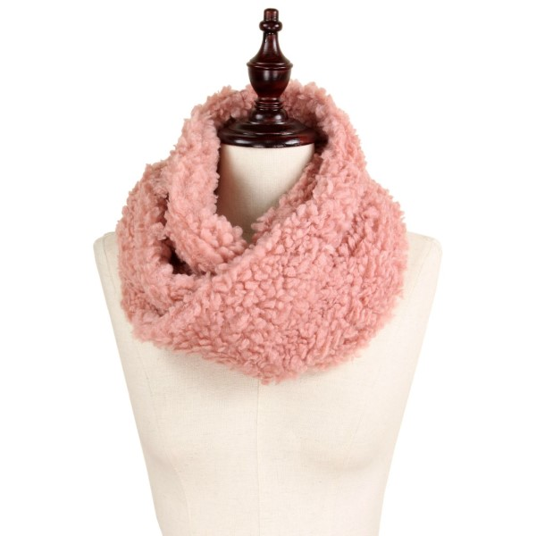 """Fluffy faux fur tube scarf. 100% polyester. Approximately 11""""x15"""""""