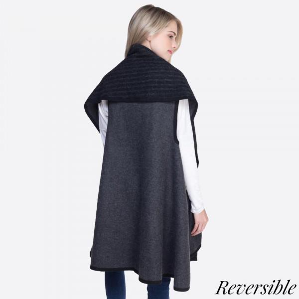 Heavyweight shawl vest. 100% acrylic.   One size fits most.