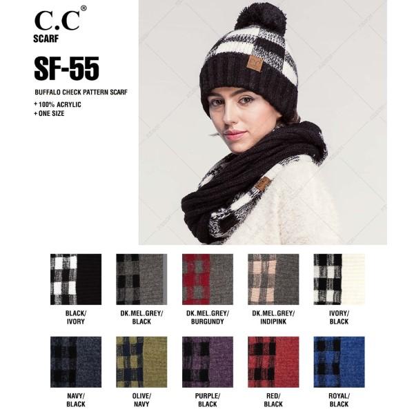 SF-55: Buffalo check pattern scarf. 100% acrylic.