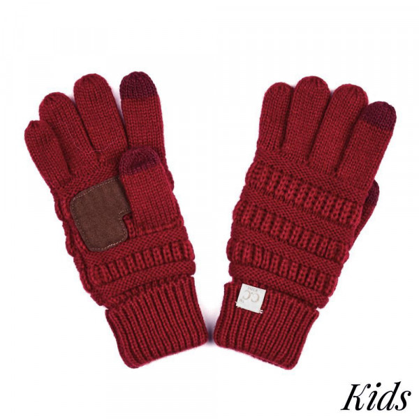 G-20 KIDS: Solid ribbed glove with smart tips. 100% acrylic.