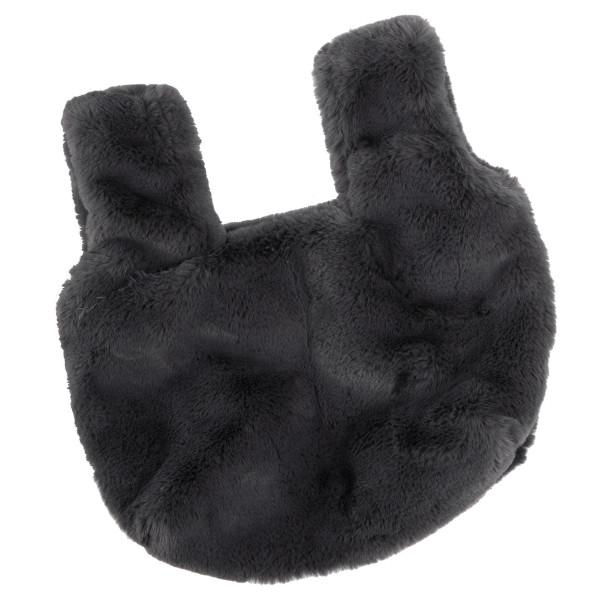 Faux fur hand bag.