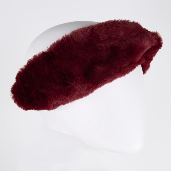 Faux fur headband. 100% acrylic.