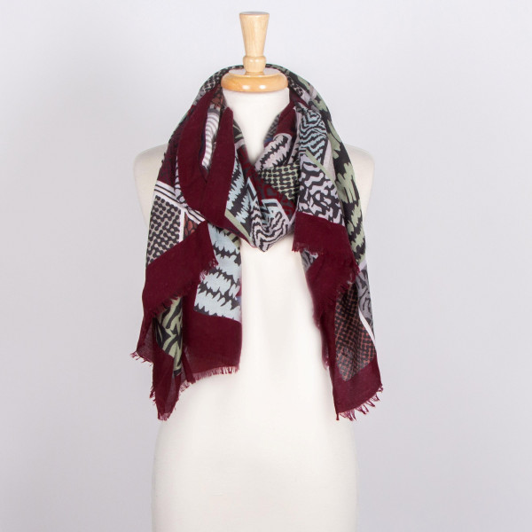 Multicolor animal print scarf.   - 100% Acrylic