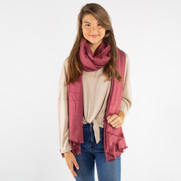 Solid color scarf. 100% acrylic.
