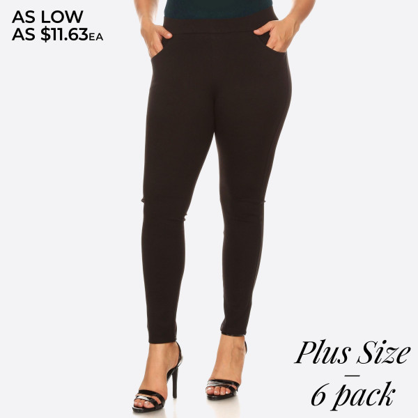 Dress to impress in these ponte knit slim pants. With a skinny leg design and easy pull-on style, they're the picture of work-to-weekend chic. 