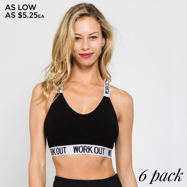 Our Bra Top Features a super soft thick jersey fabric, trendy logo band, and easy to wear bra top. Very on trend sporty bra top! An essential staple item you need to add to your collection ASAP!   • Logo Band  • Elasticized Hem  • Round Neckline  • Back Strapped Design  • Removable Cups  • Pull Over Style  • Compressive Fit   Composition: 68% Cotton, 27% Nylon, 5% Spandex